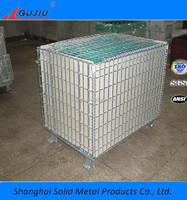 warehouse roll cages Steel Wire Mesh Cage