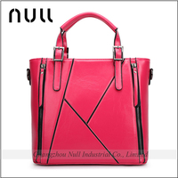 Custom famous brand designer free embossed logos pu tote bag lady leather handbag