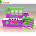 Open self-service yogurt bar counter mall food kiosk to UK for sale