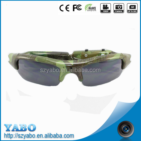 Wholesale High quality polaroid lens waterproof sunglasses camera video glasses with wireless camera