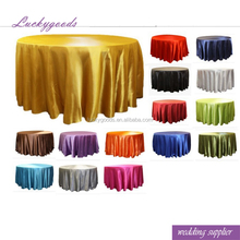 LZB053 Yiwu factory wholesale colorful 132 reataurant satin round table cloth