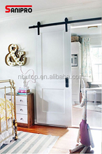 Black Carbon Steel Wood Interior Sliding Barn Doors Hardware