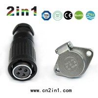 High Quality 4pin Aviation waterproof connector, electric cable connectors manufacturers, Aviation Connectors IP65