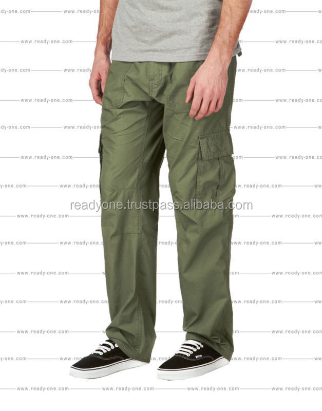 Newest US heavy duty cotton washed baggy army cargo pants