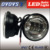 Super bright 4.5'' 30w motorcycle led fog light without halo/angle eye for jee-p har-ley