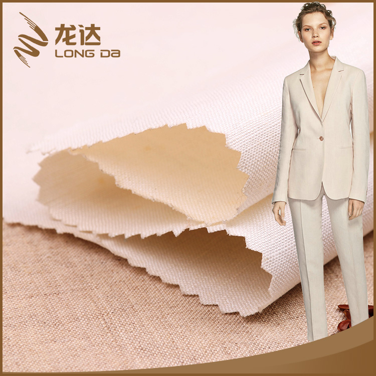 Longda Latest trendy antibacterial mixed viscose rayon linen fabric