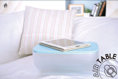 Wholesale Multifunction Air Pillow Table Inflatable Pillow Cushion / Folding Air Desk Table