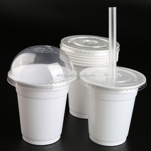 360B 12oz disposable plastic smoothie cups with lids