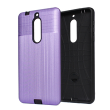 Wholesale fashion brushed pc+tpu combo armor case for NOKIA 5 mobile phone cover