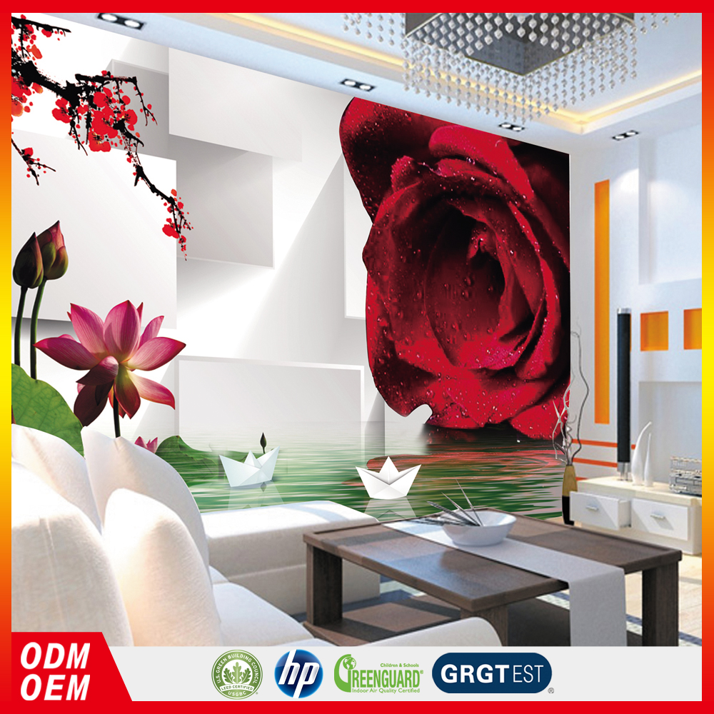 white stereoscopic background red flower 3d wallpapers for wall decors