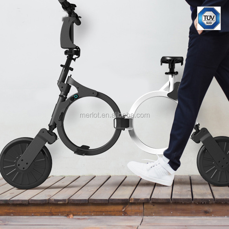 Electric light weight folding mini bike two wheel gyro scooter