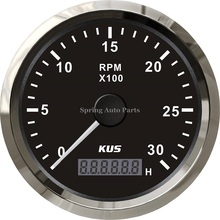Warranted 85mm generator tachometer 3000RPM 12V 24V with backlight