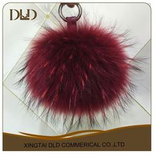 Beautiful raccoon fur pom pom ball genuine raccoon fur pom pons raccoon fur balls