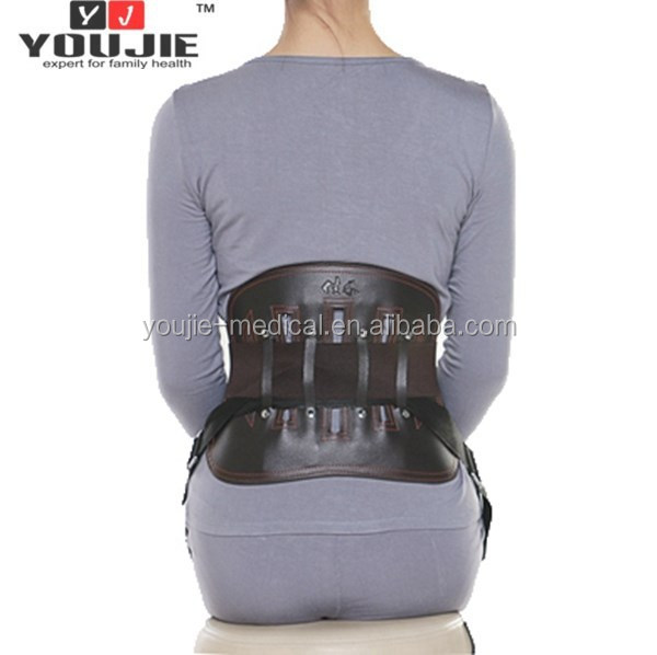 Strong Magnetic Leather Waist Support Belt for Office Worker