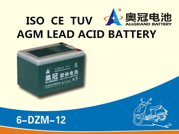 12V12Ah full sealed AGM GEL battery pack for scooter/e-motor