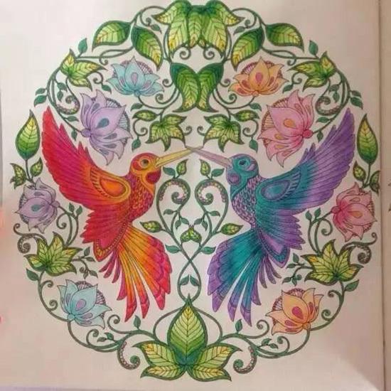 2015 New Arrive Hand Painted Coloring Book Secret Garden