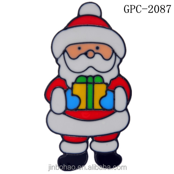 Custom printed christmas decoration window stickers gel cling