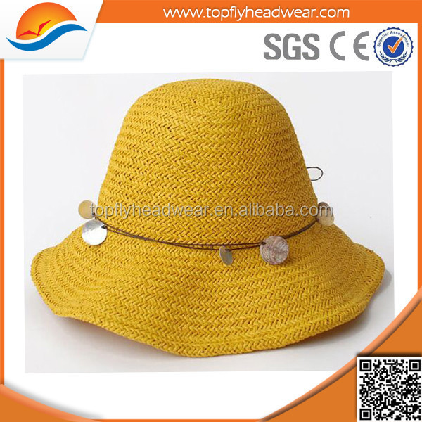 2016 fashion summer women beach hat /colorful straw hats with fixed rope