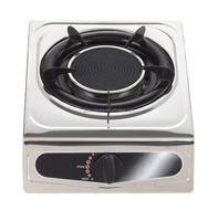Stainless steel single burner infrared gas stove