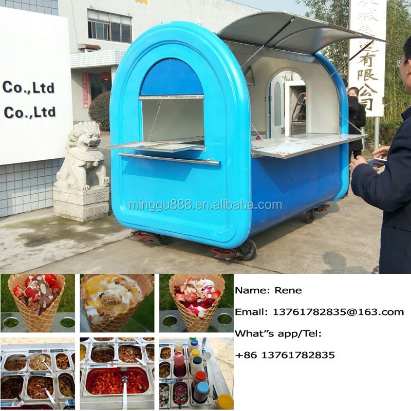 Mobile Used Food Truck/Trailer/Van/Cart Crepe Vending Wagon for sale