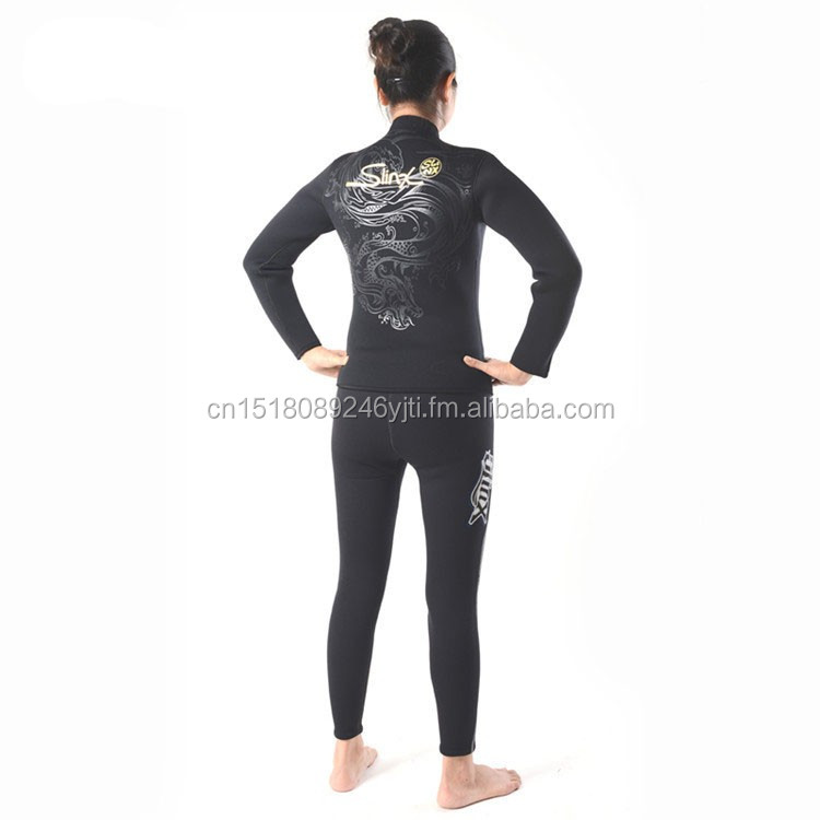 Warm 5mm wetsuits inside towel lining two piece dive suit  (3).jpg