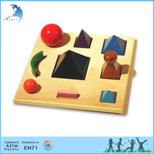 School training aids montessori wooden model of geometric shapes