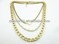 YN6658 gold chain styles layered gold plated chains