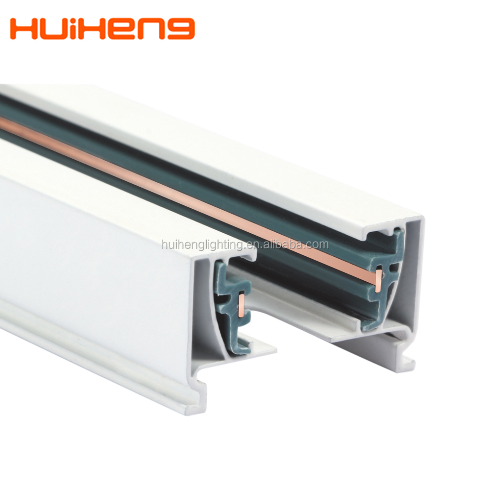 China factory tracking light system 2 wire aluminium led light track rail