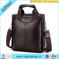 Leather office bag for men shoulder strap bag men