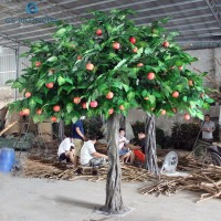 Artificial Green Apple Tree For Home Decoration Fake Apple Mango Tree Plant