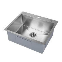 Mensarjor TS2522S9-033R00O table top one bowl kitchen sink SUS304 brushed square vegetable washing sink