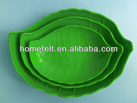 Melamine leaf shape fruit plate
