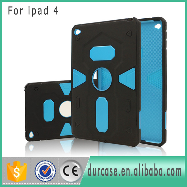 Bulk Buy From China For Apple ipad 4 Heavy Duty Hybrid Rugged Case Cover 2 in 1 Silm Armor Cases