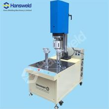 Ultrasonic Plastic Cylinder tube Bottom lid sealing Machine for PVC PET cylinder tube