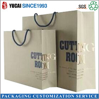 2015 Wholesale Luxury Shopping Paper Bag with Gold Stamp