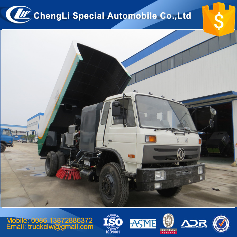 CN Biggest Industrial Street Sweepers 4x2 Vacuum Road Sweeper Truck 12m3 Highway Airport CLW dust suction airflow garbage truck