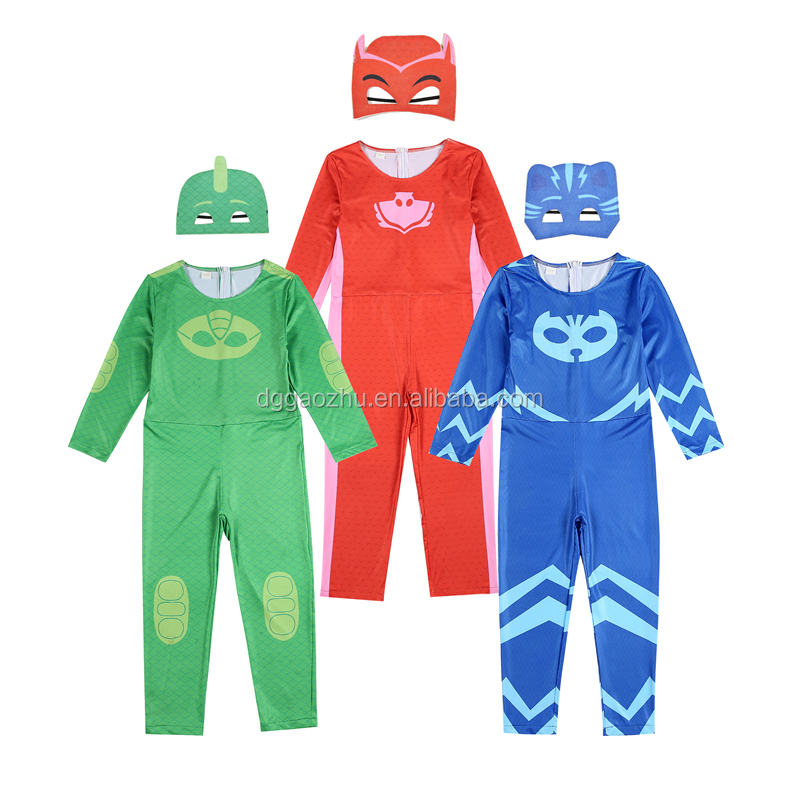 Child Clothing Sets For Girls Boys Cartoon Masks Pajamas Hero Cospaly Costume Halloween Christmas Party Carnival Kids Clothes