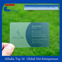 high end clear plastic business cards with OEM printing