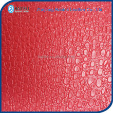little lichee design artificial pvc leather for any usage