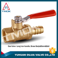 factory stock brass color mini brass gas ball with thread material Hpb57-3 two way motorized valve and full port ISO cetificate