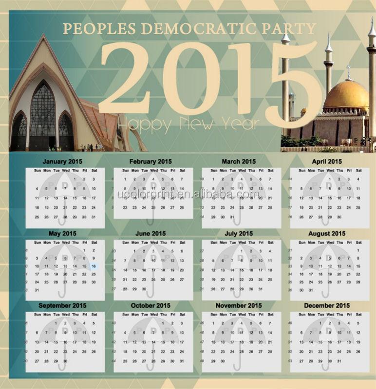 Ucolor Custom Wall Calendar Printing Buy Wall Calendar