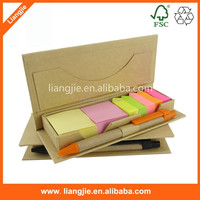 Self adhesive arrow sticky notes and sticky notepad in craft holder