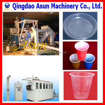 Machine For Making Disposable Cups And Plates/Plastic Cups Making Machine/Cup Production Line