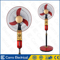 Quick delivery high speed standing outdoor fan with lights DC-12V16H2 with lamp
