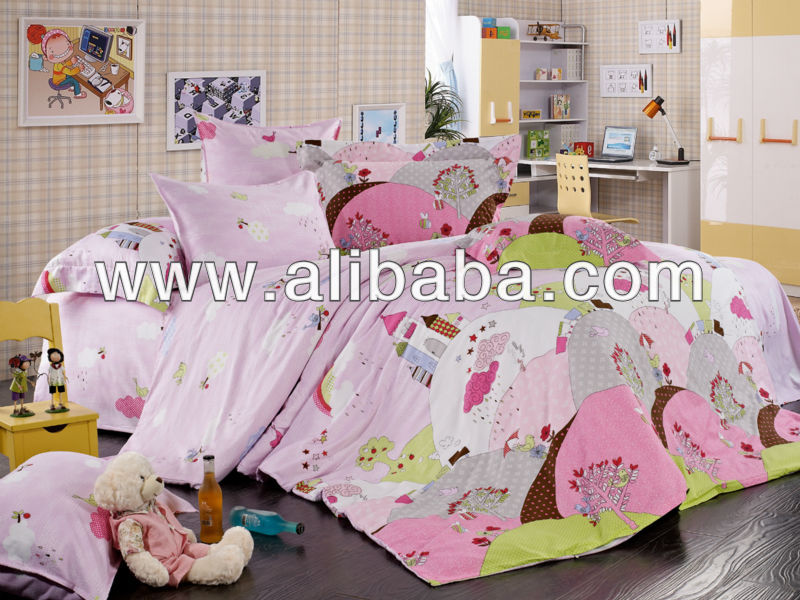 Printing kids cartoon bedding set
