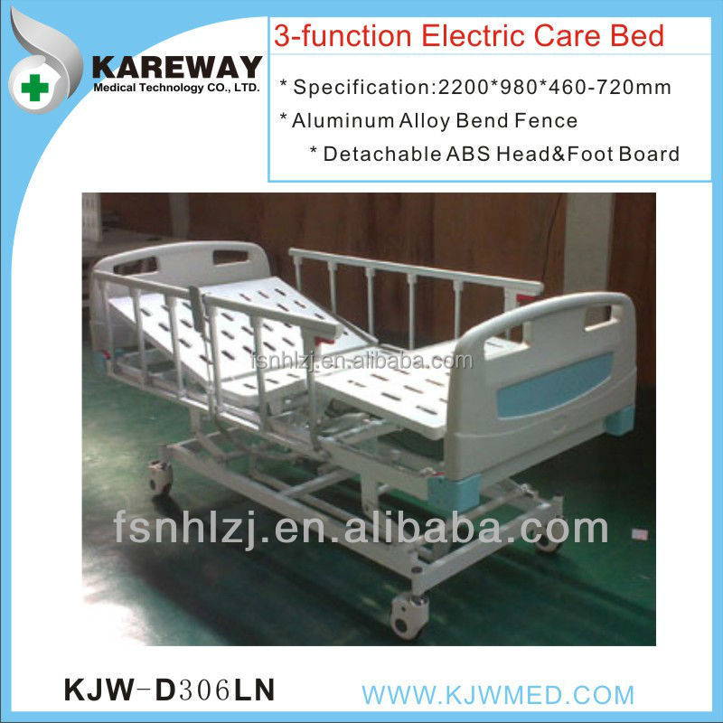 3 functions modern hospital beds with low voice motor