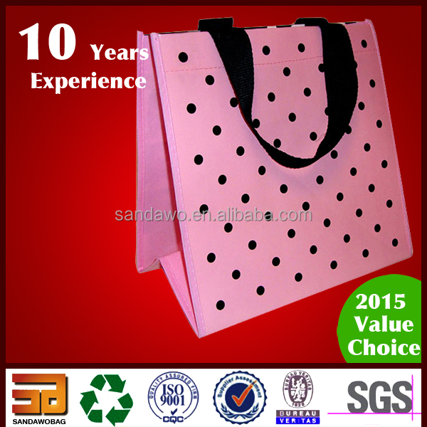Promotional customized Popular silver coated pp non woven grocery bag