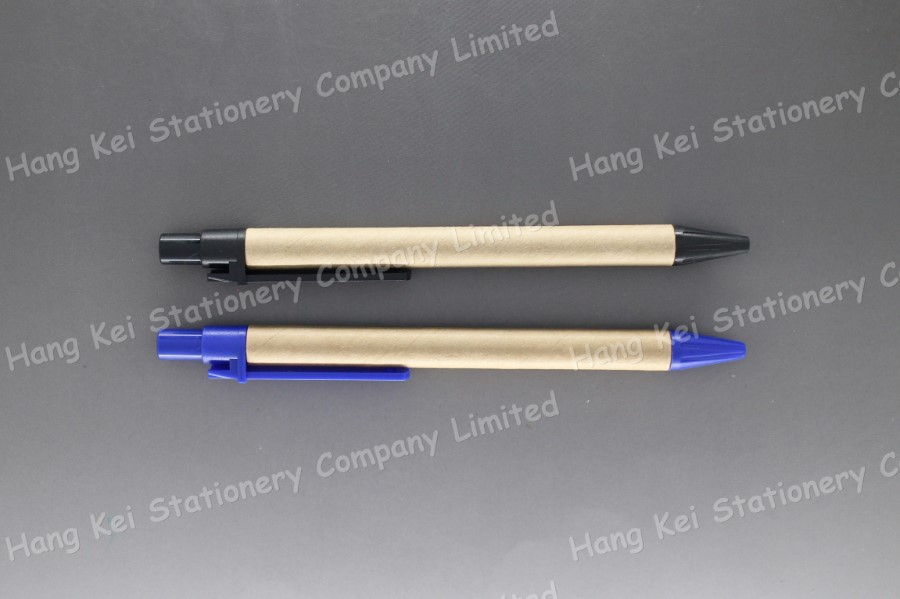 Custom design best quality recycled paper click ball pen