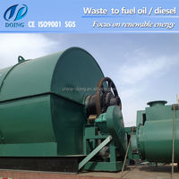 new design waste tyre recycling small pyrolysis machine to fuel oil PP PE PET Waste Plastic recycling machine to oil