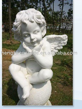 Marble Stone Angle Garden Statue